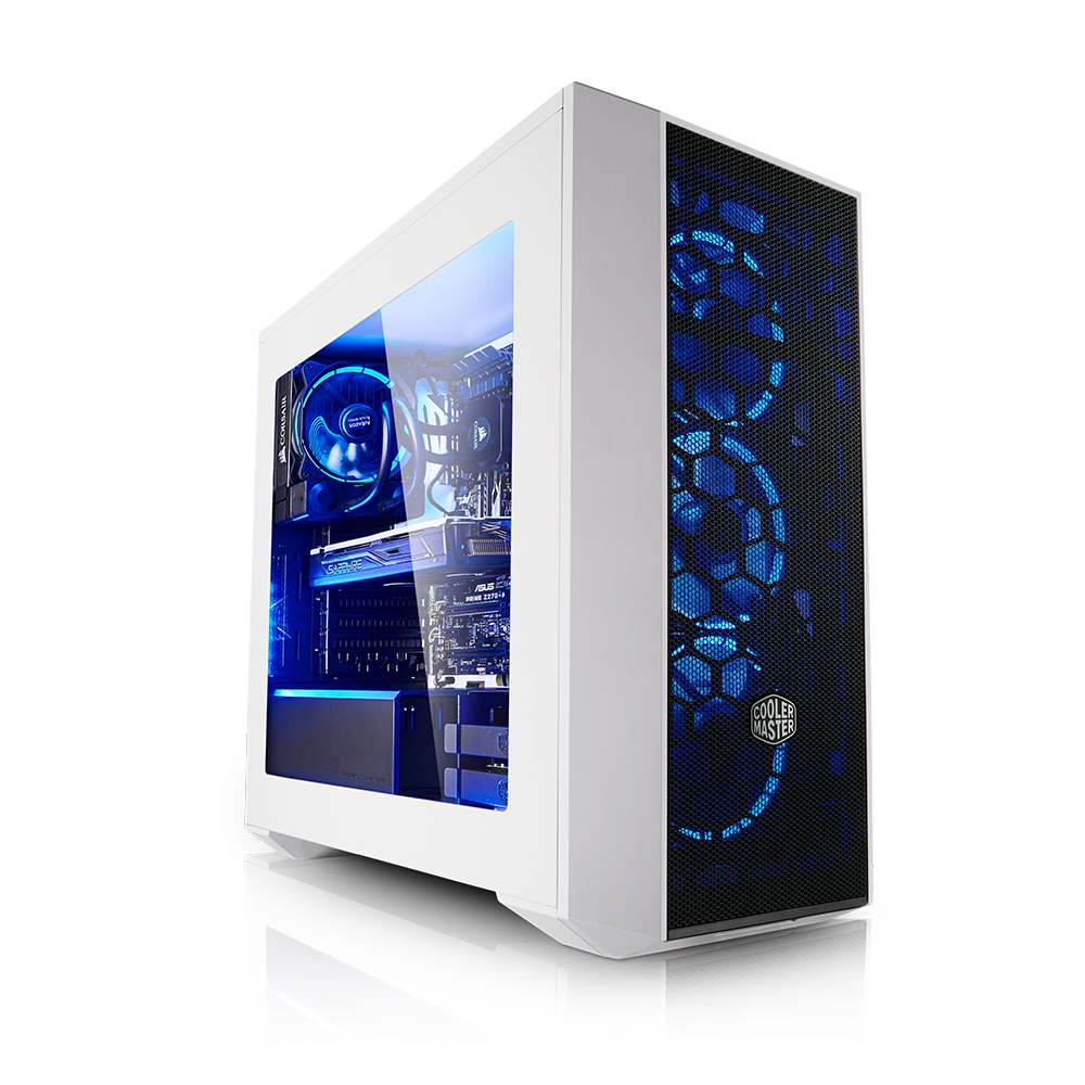 High End Gaming PC i7 7740X sichtfenster